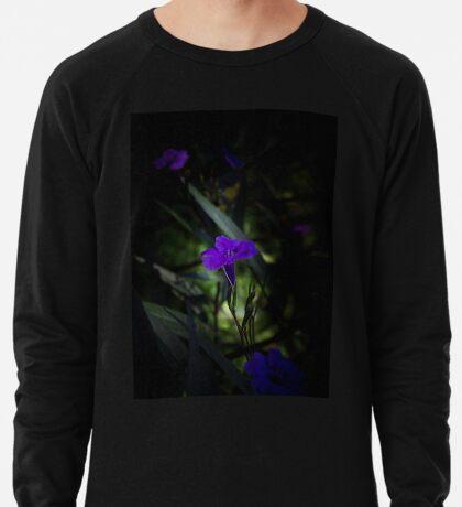 Violette Blumen Leichter Pullover