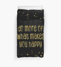 TEXT ART GOLD Do more of what makes you happy Bettbezug