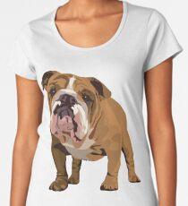 Camiseta premium de cuello ancho Buldog