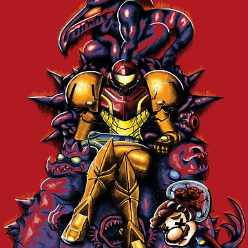 Metroid - The Huntress Throne (with Mario) by seviesphere