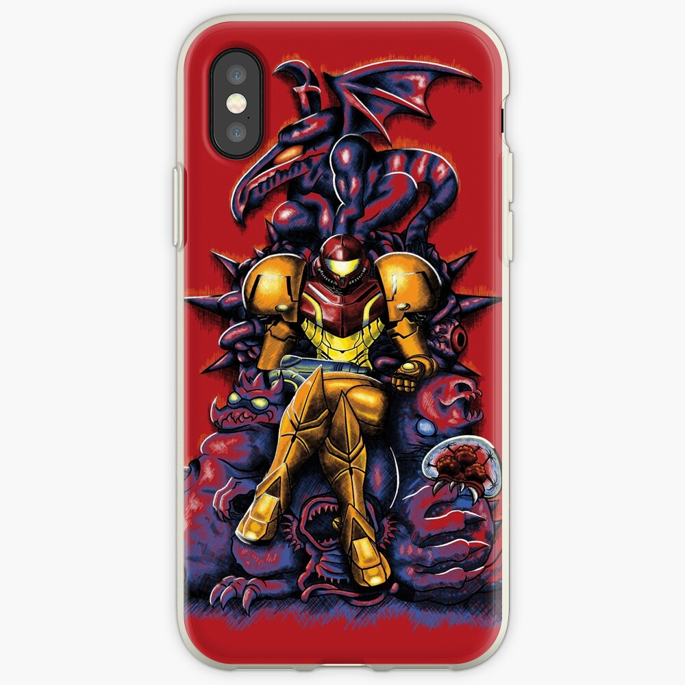 Metroid - The Huntress 'Throne -Gaming Funda y vinilo para iPhone