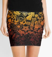 Kingdom Hearts - Keyhole (orange) Mini Skirt