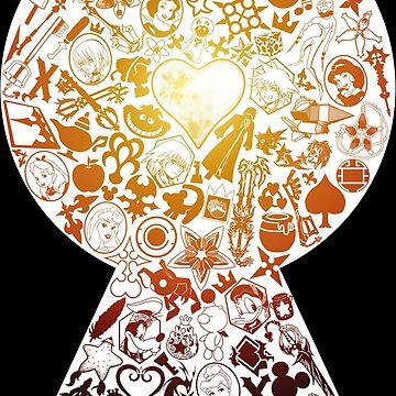 Kingdom Hearts - Keyhole (orange) by seviesphere