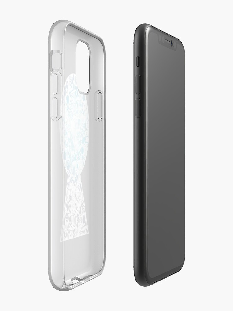 Alternate view of Kingdom Hearts - Keyhole (blue) iPhone Case & Cover