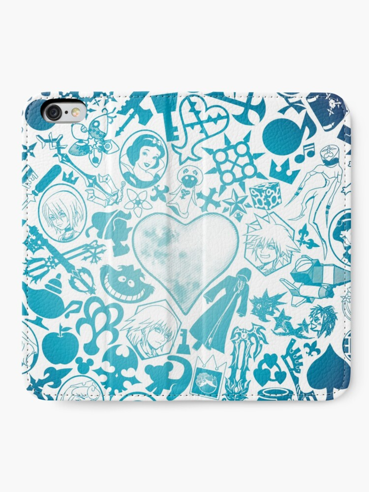 Alternate view of Kingdom Hearts - Keyhole (blue) iPhone Wallet