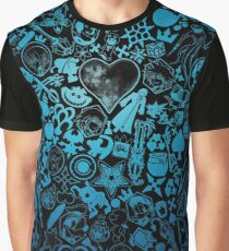 Kingdom Hearts - Keyhole (blue) Graphic T-Shirt
