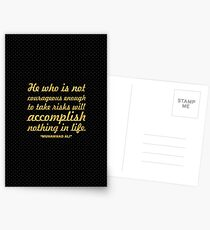 """He who is not... """"Muhammad Ali"""" Inspirational Quote Postcards"""
