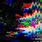 Glitch psychedelic background. Old TV screen error. by Wittmann