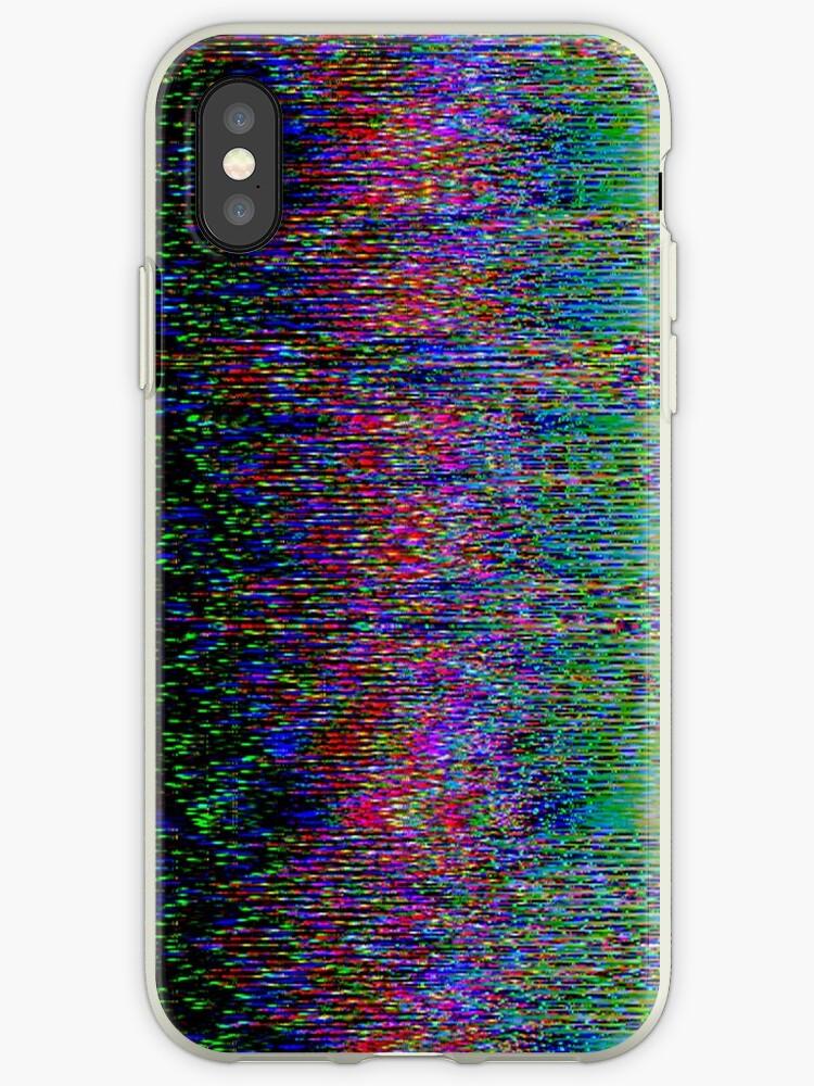 """Broken Pixels: """"Broken Pixels Glitch. Television Signal Fail. """" IPhone"""
