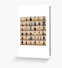 Buffy - Mini Monsters  (The High School Years) illustration  Greeting Card