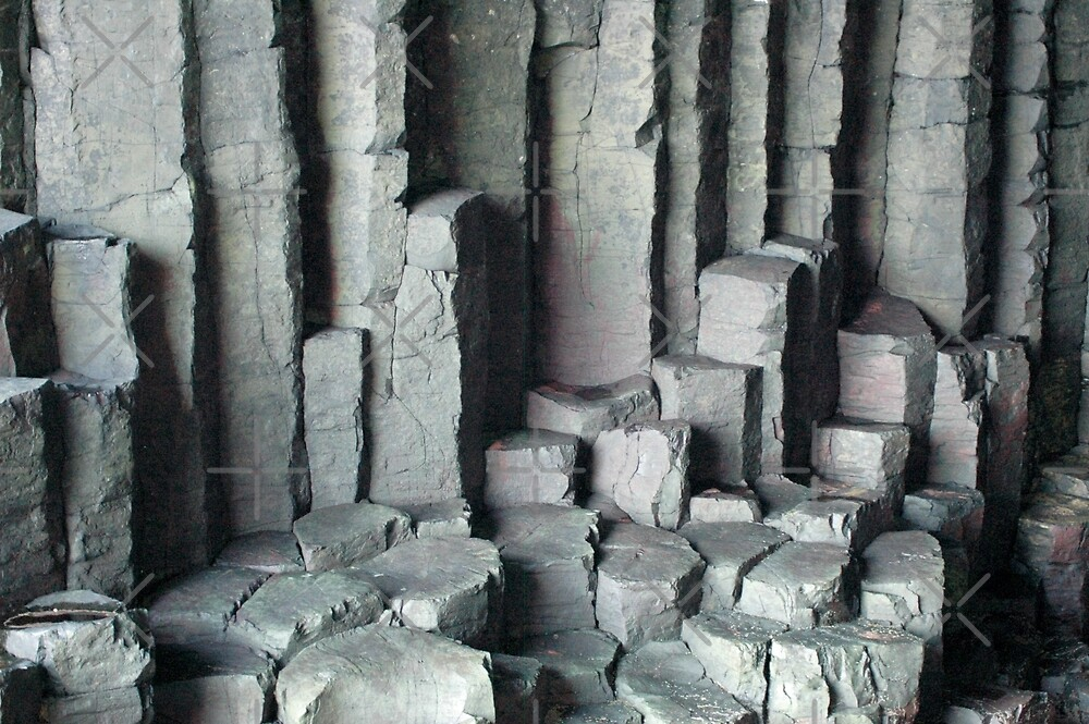 Basalt Columns with unusual colouring by SiobhanFraser