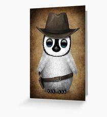 Cute Baby Penguin Wearing Cowboy Hat Greeting Card