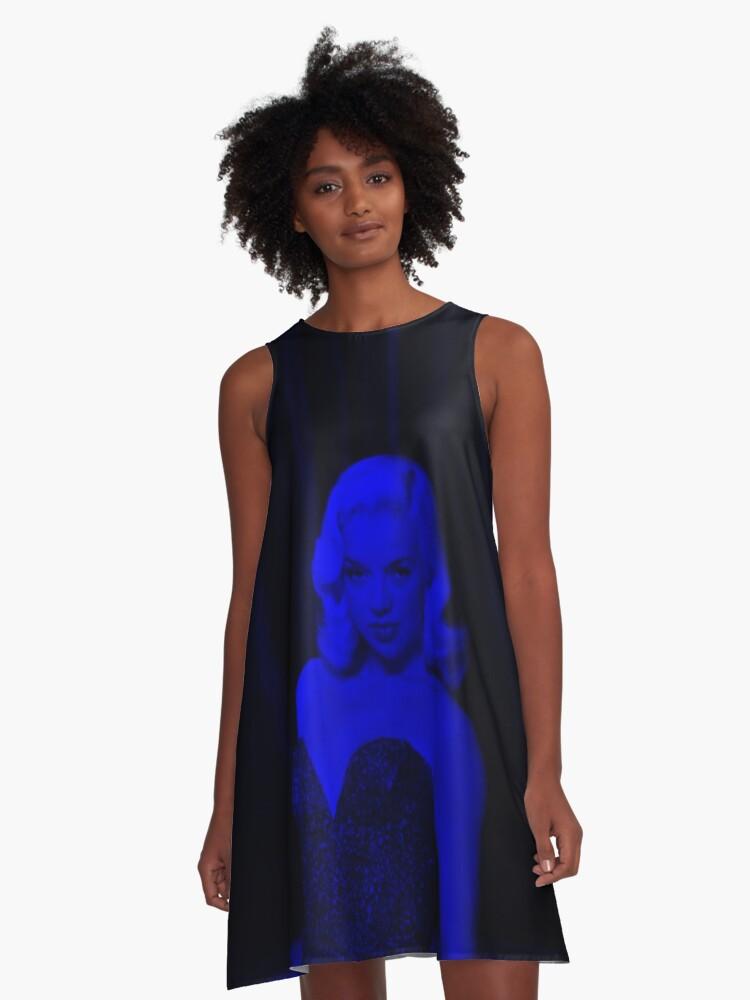 Diana Dors - Celebrity (Dark Fashion) A-Line Dress Front