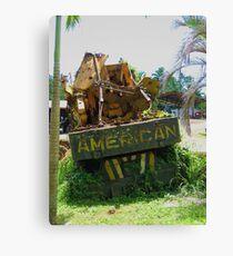 American in Rarotonga Canvas Print