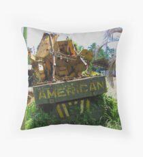 American in Rarotonga Throw Pillow