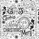 Black and White Christmas Typography Design by artsandsoul