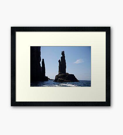 rock sculpture Framed Print