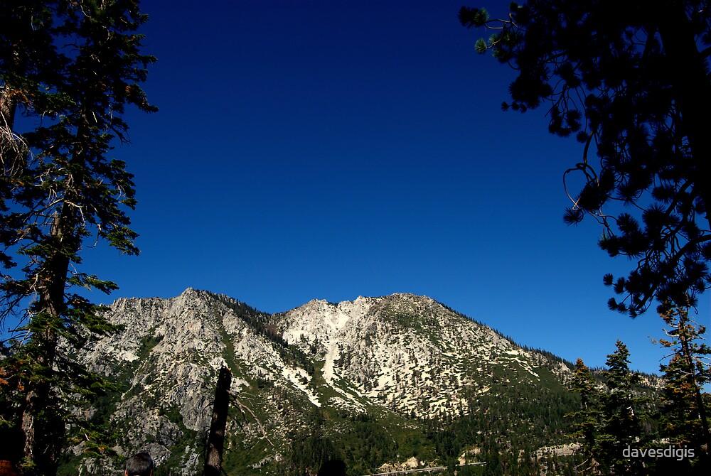 Mountain Range Overlooking Emerald Bay by davesdigis