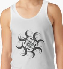 Shee Mandala Spiral with Om and Lotus Symbol Men's Tank Top