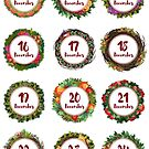 Advent Calendar Stickers - 13-24 December by vasylissa