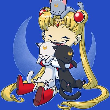 Crazy Moon Cat Lady by dooomcat