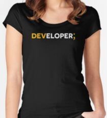 DEVELOPER; Women's Fitted Scoop T-Shirt