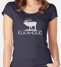 Christmas Gift Elkaholic  funny elk hunting KX414 Best Trending Women's Fitted Scoop T-Shirt
