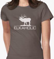 Christmas Gift Elkaholic  funny elk hunting KX414 Best Trending Women's Fitted T-Shirt