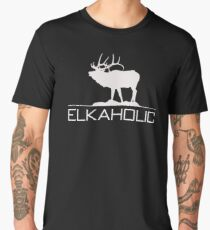 Christmas Gift Elkaholic  funny elk hunting KX414 Best Trending Men's Premium T-Shirt