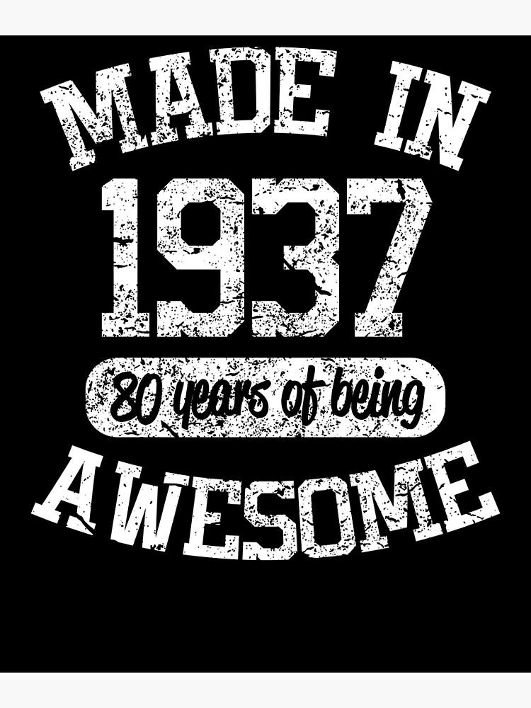 1937 Birthday Shirt