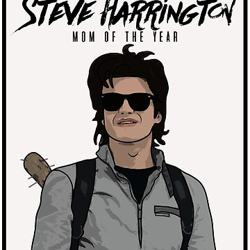 Stranger Things Inspired Steve Harrington Mom of The Year by ccheshiredesign