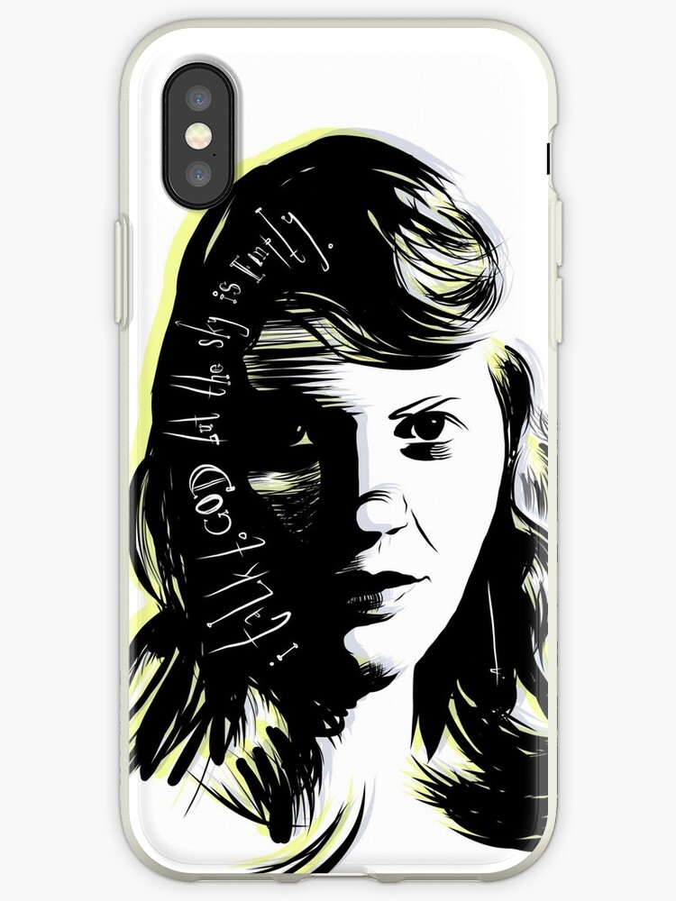 Sylvia Plath I Talk To God But The Sky Is Empty Iphone Cases