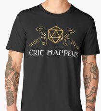 Dungeons and Dragons Inspired - D&D - Crit Happens - Critical Dice Roll Men's Premium T-Shirt