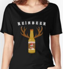 Reinbeer Beer Bottle With Antlers - X-mas Beer Party  Women's Relaxed Fit T-Shirt