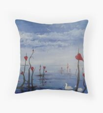 Stranded Hearts Throw Pillow