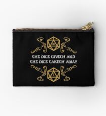 The Dice Giveth and Taketh Away Natural 20 and Critical Fail Studio Pouch