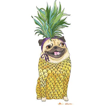 Pineapple Pug by chickenpants
