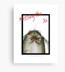 Missing You, Tabby Cat-Snap Canvas Print