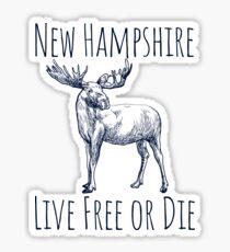 NH Live Free or Die Moose Sticker