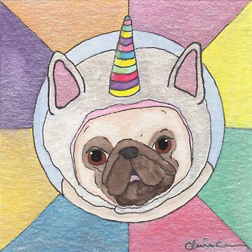 Part Time Unicorn Pug by chickenpants