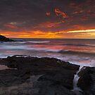 Treyarnon point Cornwall  by eddiej