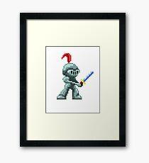 Caballero Pixelart Framed Print