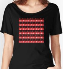 Knitted Red Reindeer Christmas Art Women's Relaxed Fit T-Shirt