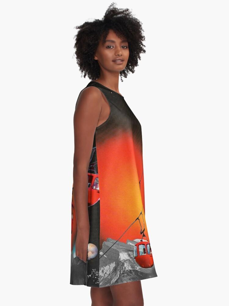 Alternative Ansicht von Evolutionäre Leiter A-Linien Kleid