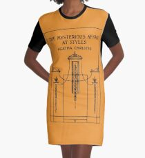 The Mysterious Affair at Styles book cover Graphic T-Shirt Dress
