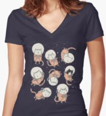 CatStronauts Classic Women's Fitted V-Neck T-Shirt
