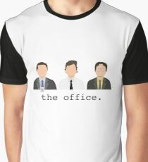Jim, Dwight, Michael- The Office Graphic T-Shirt