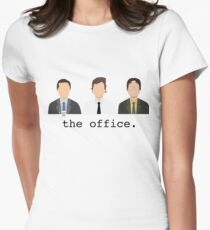 Jim, Dwight, Michael- The Office Women's Fitted T-Shirt
