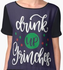 Drink Up Grinches Chiffon Top