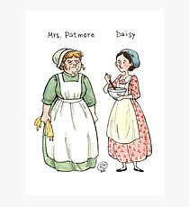 Mrs.Patmore-Daisy Photographic Print